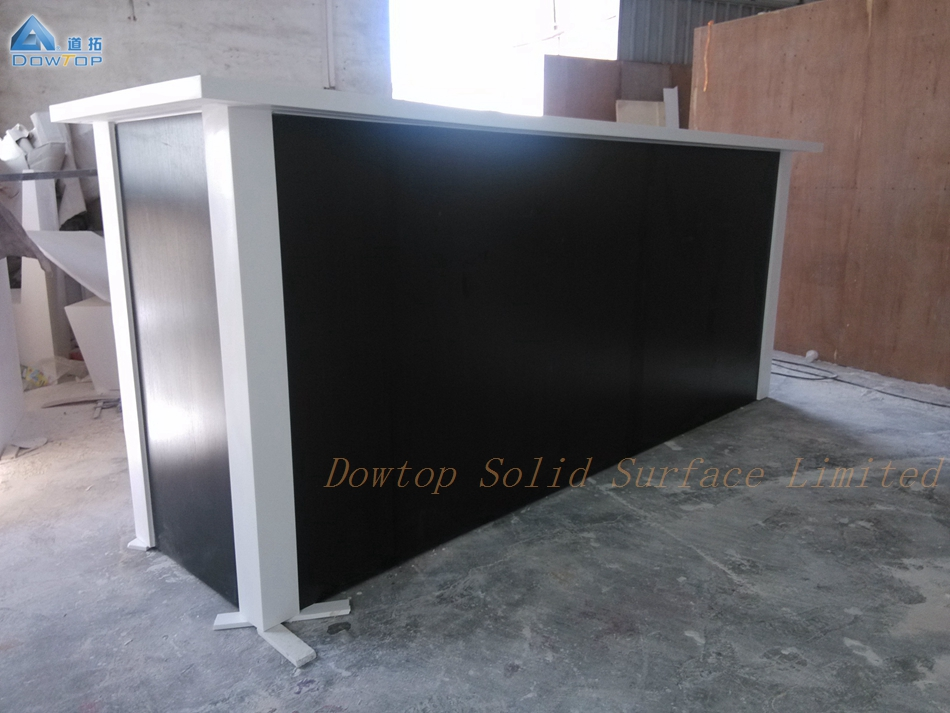 Led wood solid surface bar counter cabinet set